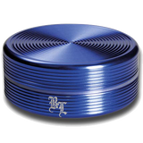 Black Leaf Aluminium 'Ripple' 2 Part Grinder - Blue - Puff Puff Palace
