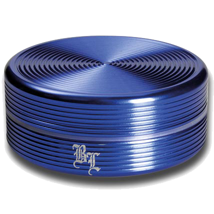 Black Leaf Aluminium 'Ripple' 2 Part Grinder - Blue