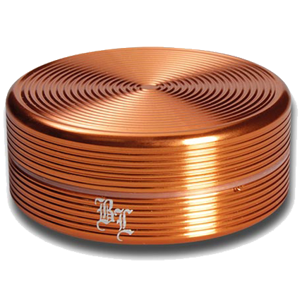 Black Leaf Aluminium 'Ripple' 2 Part Grinder - Bronze - Puff Puff Palace