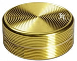 Black Leaf Aluminium 'Ripple' 2 Part Grinder - Gold - Puff Puff Palace