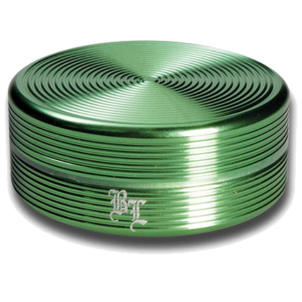 Black Leaf Aluminium 'Ripple' 2 Part Grinder - Green - Puff Puff Palace