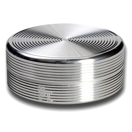 Black Leaf Aluminium 'Ripple' 2 Part Grinder - Silver - Puff Puff Palace