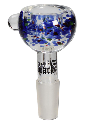 Blue Sprinkled Glass Bong Bowl - Puff Puff Palace