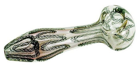 Colour Changing Glass Pipe - Black/Green