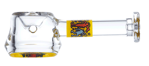 Keith Haring Spoon Pipe - Yellow