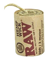 RAW Natural Hemp Wick - 3m - Puff Puff Palace