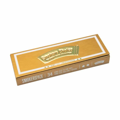 Smokers Choice 'SmokersPack' King Size - Gold - Puff Puff Palace