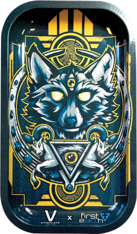 Wolf Metal Rolling Tray Large - Puff Puff Palace