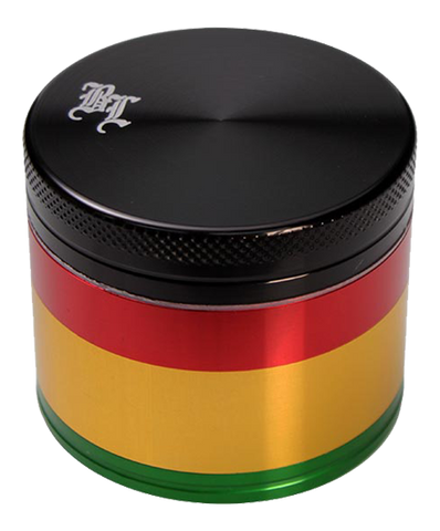 Black Leaf Rasta 4-Part Grinder - Puff Puff Palace