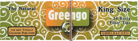 Greengo Kingsize Unbleached Two-in-One - 33 leaves & tips - Puff Puff Palace