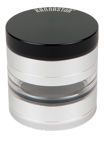 Kannastor Grey Mid Clear 4-part Grinder - Puff Puff Palace