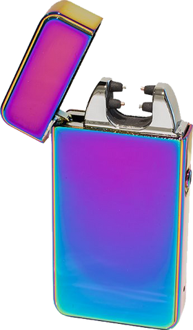 Novi Rechargeable Plasma Lighter - Rainbow - Puff Puff Palace