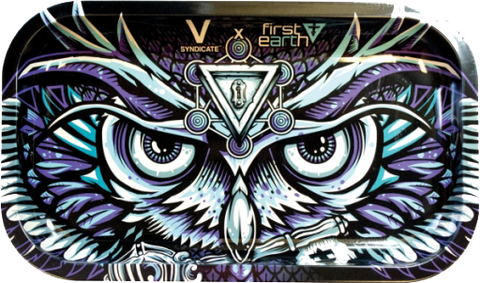 Owl Metal Rolling Tray Large - Puff Puff Palace