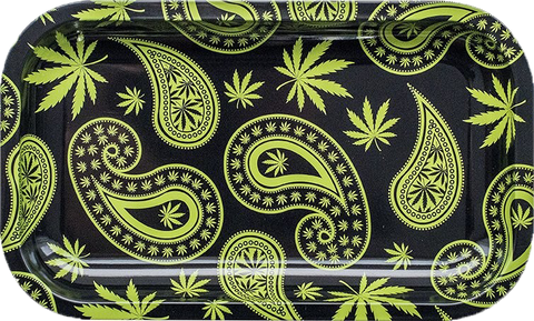 Paisley Metal Rolling Tray Large - Puff Puff Palace