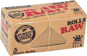 RAW Classic Unrefined Kingsize Slim Roll - 5 meters - Puff Puff Palace