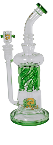 Tsunami 'Twisted Shower Head Recycler' Bong - Puff Puff Palace
