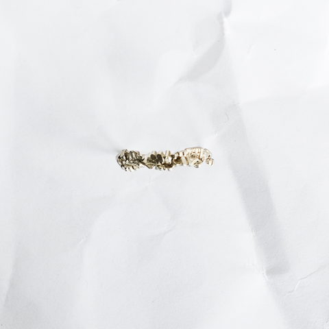 Gold earrings handmade by Melbourne contemporary jeweller Aphra Ellen