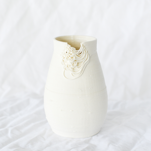 3D printed ceramic vase by Alterfact