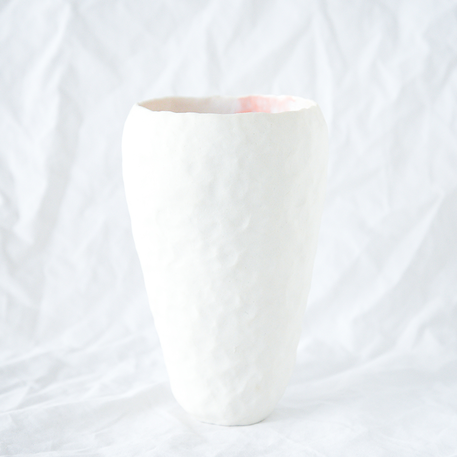 Pinched Porcelain Vessel Handmade By Melbourne Ceramicist Bec Smith