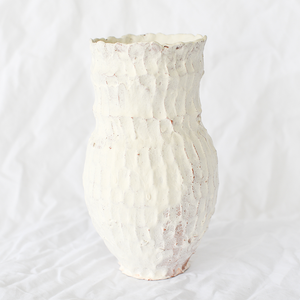 Tall White Vessel