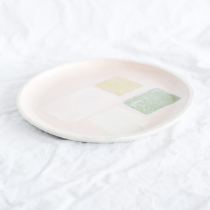 Colourful Ceramic Plate Handmade By Australian Ceramicist Debbie Pryor