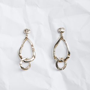 Sterling silver earrings handmade by Sydney jeweller Jean Yoshiko