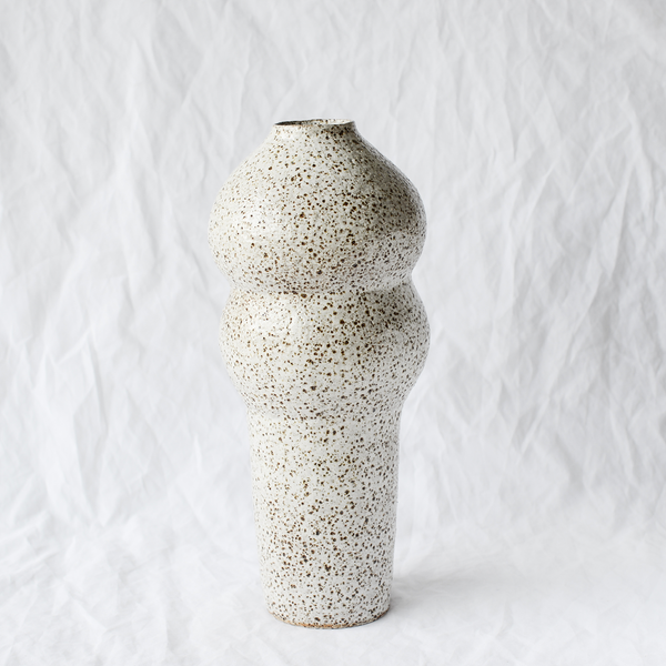 Speckled ceramic vessel handmade by Sydney ceramicist Emily Ellis