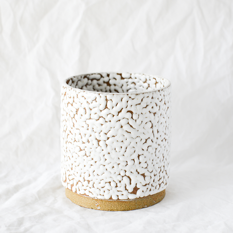 White Ceramic Planter By Newcastle-based Jen Lanz From Good Grief Ceramics