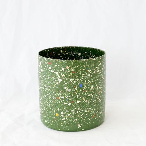 Stone terrazzo vessel handmade by Lauren Eaton from Home By Harlequin