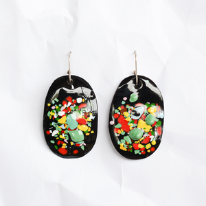 Enamel earrings handmade by Melbourne jeweller Jenna O'Brien