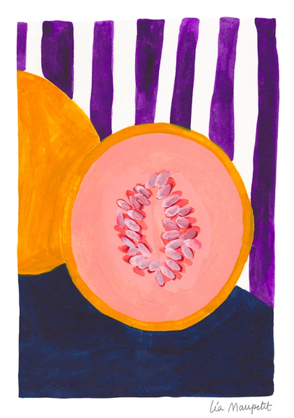 Purple Melon Print