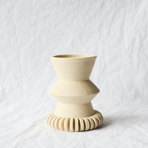 Sculptural Ceramic Vase by Barcelona-based ceramicist Mari Masot