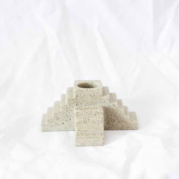 Ceramic candle holder handmade by Melbourne ceramicist Oh Hey Grace