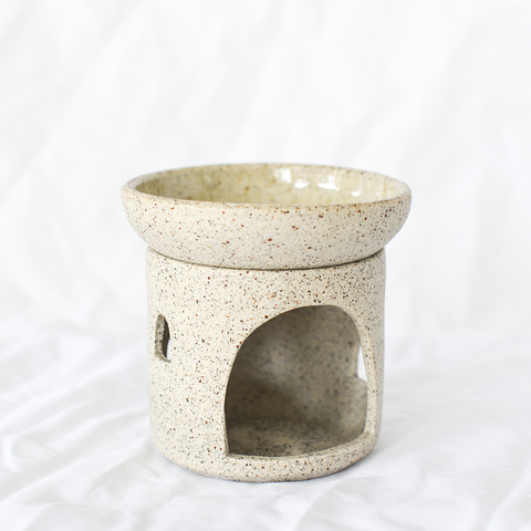 Ceramic Speckled Oil Burner by Melbourne ceramicist Oh Hey Grace