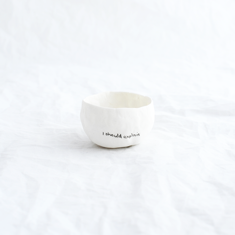 Porcelain vessel by ceramicist Alexandra Standen from Pinch Ceramics