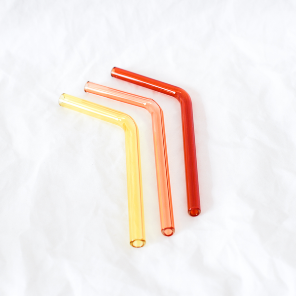 Glass Straw handmade by Adelaide based Studio Dokola