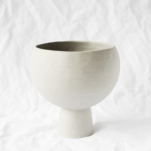 Ceramic Grey Vessel handmade by Melbourne ceramicist Simone Karras