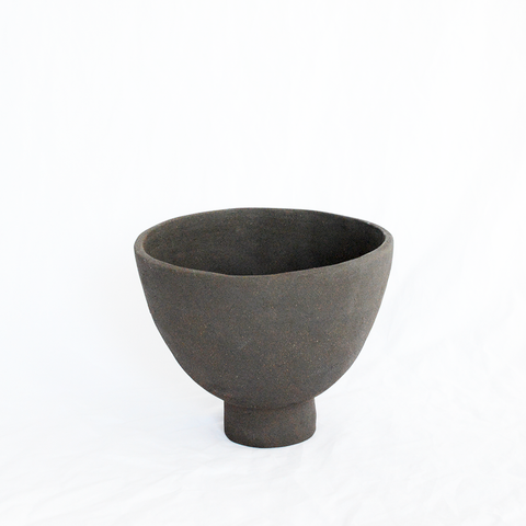 Ceramic Black Vessel