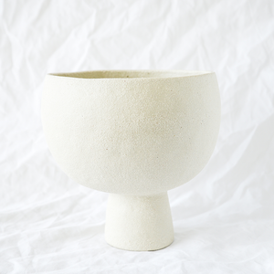 Ceramic Cream Vessel by Melbourne ceramicist Simone Karras