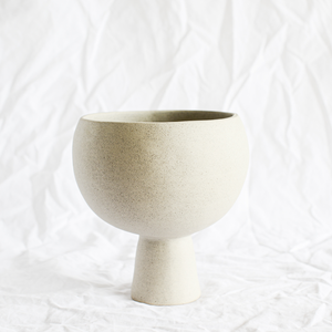 Ceramic Grey Stone Vessel by Melbourne ceramicist Simone Karras