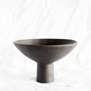 Ceramic Black Vessel by Melbourne ceramicist Simone Karras