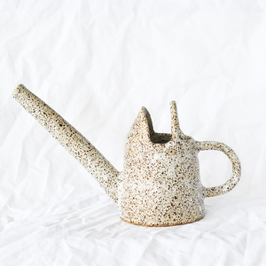 Ceramic Speckled Watering Pot by Melbourne ceramicist Simone Karras