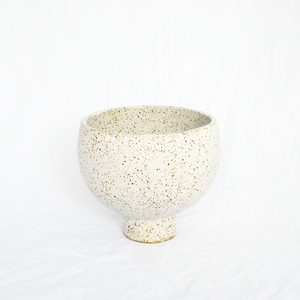 Ceramic White Round Vessel