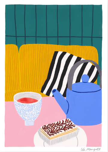 Colourful digital print by French illustrator Léa Maupetit
