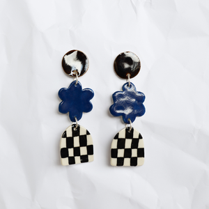 Ceramic earrings handmade by Melbourne designer Togetherness Design