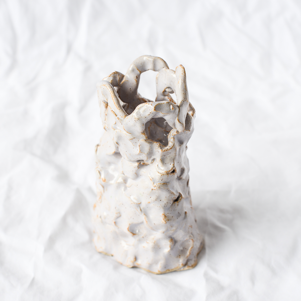 Ceramic Candle Holder Handmade By Melbourne Ceramicist Tessy King