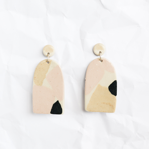 Ceramic Terrazzo Earrings By Melbourne Ceramicist Tantri Mustika