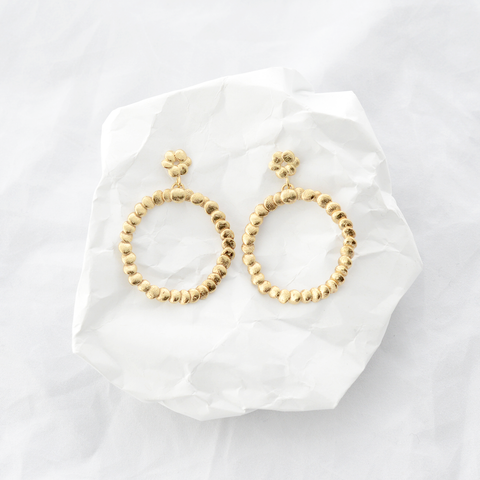Large Double Circle Earrings - Gold