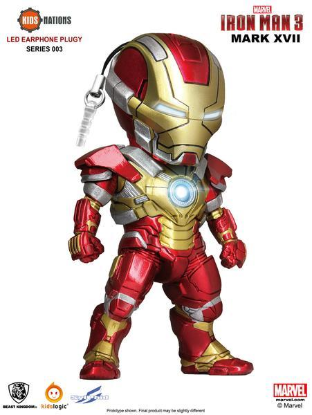 Iron Man Mk 17 , Iron Man Earphone Plug 03, Iron Man 3