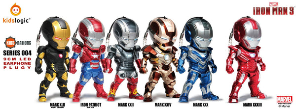 KN SF04, Iron Man Earphone Plug 04, Iron Man 3, Set of 6